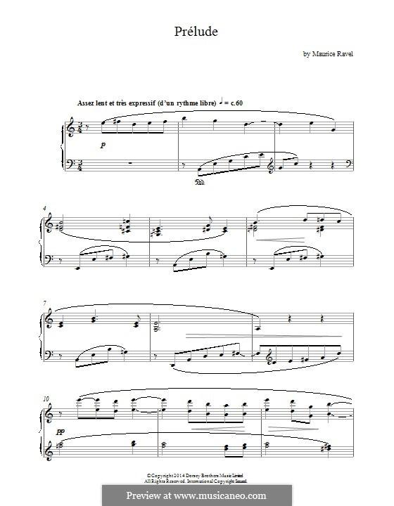 Прелюдия, M.65: Для фортепиано by Морис Равель
