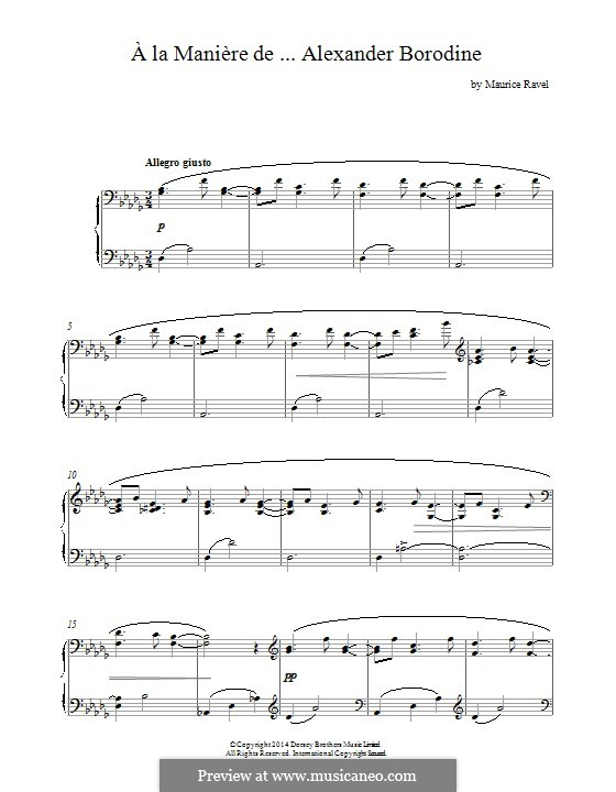 В манере, M.63: Borodine by Морис Равель