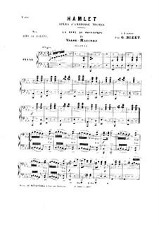 Гамлет: La fête du printemps. No.4 Valse-Mazurka, for Piano Four Hands by Амбруаз Томас