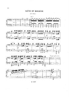 Гамлет: La fête du printemps. No.5 Scène du Bouquet, for Piano Four Hands by Амбруаз Томас
