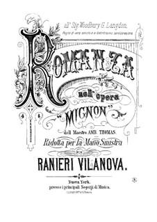 Миньон: Романс, для фортепиано с солирующей левой рукой by Амбруаз Томас