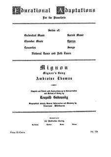 Миньон: Романс, для фортепиано by Амбруаз Томас