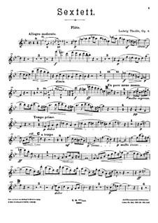 Секстет для фортепиано и духовых инструментов, Op.6: Партии духовых by Людвиг Тюйе