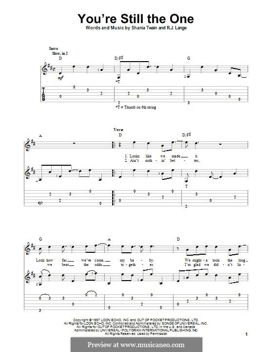 You're Still the One: Для гитары с табулатурой by Robert John Lange, Shania Twain