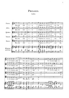 Амфипарнас: Proloque, Acts I-II, for voices, choir and piano by Орацио Векки