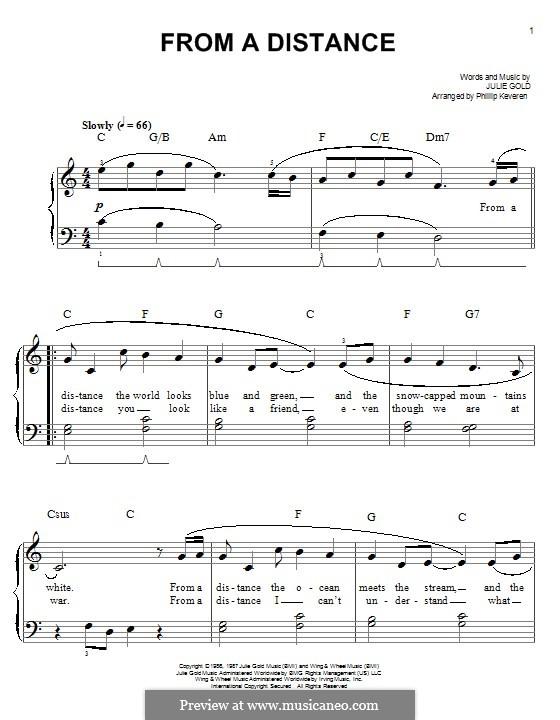 From a Distance: Для фортепиано by Julie Gold