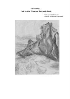Einsamkeit: Вокальная партитура by Sonja Grossner