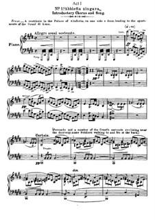 Фрагменты: Акт I, No.1, для голосов и фортепиано by Джузеппе Верди
