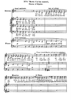 Фрагменты: Акт II, No.9, для голосов и фортепиано by Джузеппе Верди