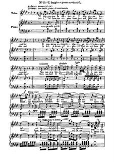 Фрагменты: Акт II, No.15, для голосов и фортепиано by Джузеппе Верди