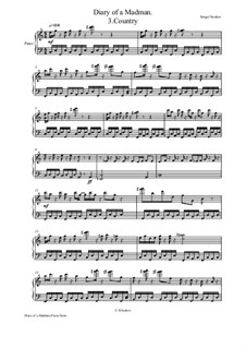 Diary of a Madman Piano Suite: No.3 Countryside by Sergei Noskov