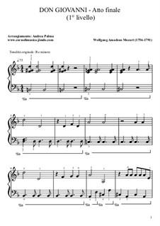 Фрагменты: Final act. Version for piano by Вольфганг Амадей Моцарт