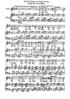 Фрагменты: Акт IV, No.23, для голосов и фортепиано by Джузеппе Верди