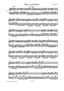 Diary of a Madman Piano Suite: No.7 Dog by Sergei Noskov