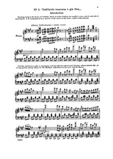Фрагменты: Акт I No.2 Dall' invito trascorsa è già l'ora, для солистов, хора и фортепиано by Джузеппе Верди