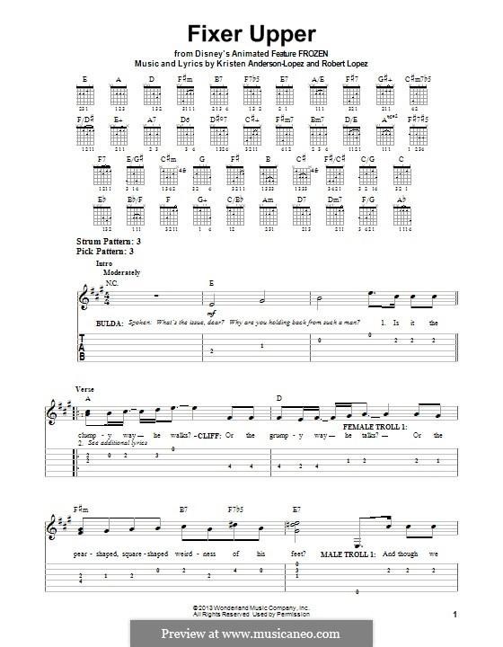 Fixer Upper: Для гитары с табулатурой by Robert Lopez, Kristen Anderson-Lopez