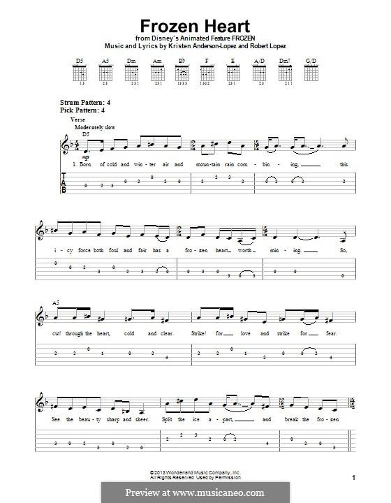 Frozen Heart (from Frozen: The Broadway Musical): Для гитары с табулатурой by Robert Lopez, Kristen Anderson-Lopez