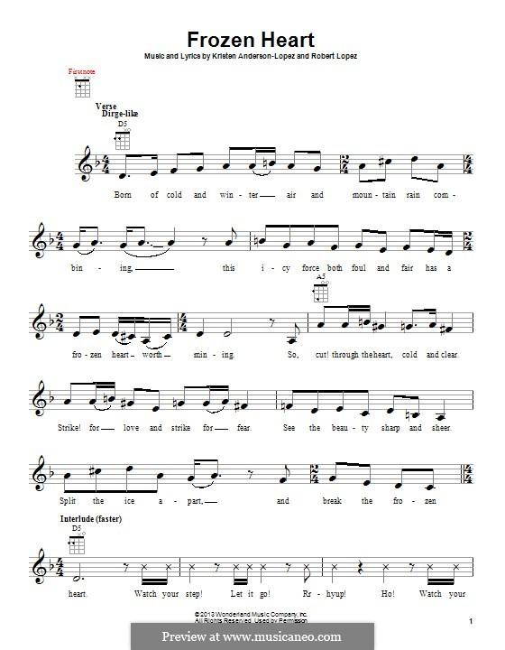 Frozen Heart (from Frozen: The Broadway Musical): Для укулеле by Robert Lopez, Kristen Anderson-Lopez