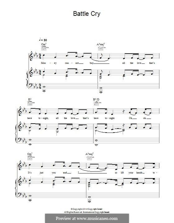 Battle Cry (Angel Haze feat. Sia): Для голоса и фортепиано (или гитары) by Raykeea Angel Wilson