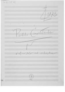 Концертная партита для скрипки с оркестром: Наброски композитора by Эрнст Леви