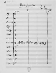 Концертная партита для скрипки с оркестром: Партитура by Эрнст Леви