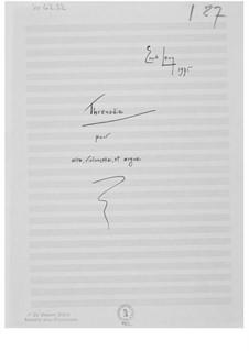 Кантата No.7 'Солнцестояния': No.13 Плач для альта, виолончели и органа – Партитура by Эрнст Леви