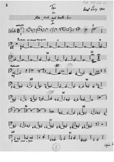 Трио для флейты, альта и контрабаса: Партия контрабаса by Эрнст Леви
