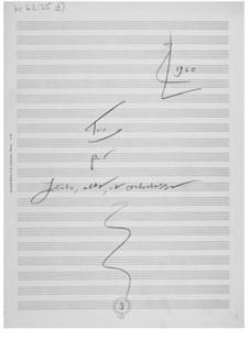 Трио для флейты, альта и контрабаса: Наброски композитора by Эрнст Леви