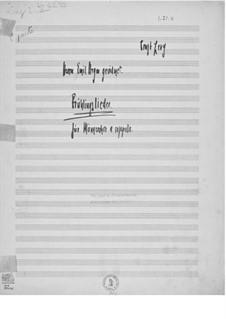 Весенние песни для мужского хора а капелла: Весенние песни для мужского хора а капелла by Эрнст Леви