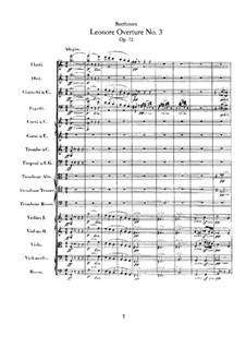 Леонора. Увертюра No.3, Op.72b: Партитура by Людвиг ван Бетховен