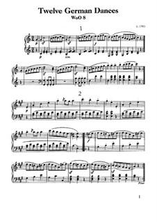 Двенадцать немецких танцев, WoO 8: Для фортепиано by Людвиг ван Бетховен
