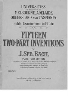 Весь сборник, BWV 772-786: No.1-15 by Иоганн Себастьян Бах