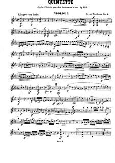 Струнный квинтет No.1 ми-бемоль мажор, Op.4: Скрипка II by Людвиг ван Бетховен