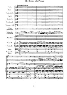 Концерт для скрипки, виолончели и фортепиано с оркестром, Op.56: Rondo alla polacca by Людвиг ван Бетховен