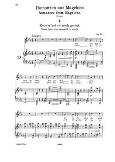 Пятнадцать романсов, Op.33: No.1 No One Has Yet Regretted by Иоганнес Брамс