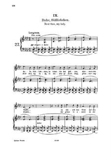 Пятнадцать романсов, Op.33: No.9 Rest, Sweet Love by Иоганнес Брамс