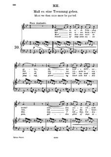 Пятнадцать романсов, Op.33: No.12 Must there Be a Parting by Иоганнес Брамс