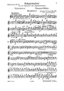 Treasure Waltz, Op.418: For quartet by Иоганн Штраус (младший)