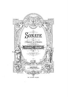 Соната для двух фортепиано в четыре руки фа минор, Op.34b: Партитура by Иоганнес Брамс