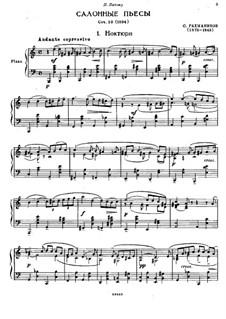 Семь салонных пьес, Op.10: No.1 Ноктюрн by Сергей Рахманинов