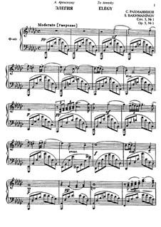 Фантастические пьесы, Op.3: No.1 Элегия by Сергей Рахманинов