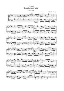 Прелюдия и фуга No.14 фа-диез минор, BWV 859: Для клавишного инструмента (редакция Попов П. А., 2013) by Иоганн Себастьян Бах