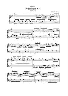 Прелюдия и фуга No.16 соль минор, BWV 861: Для клавишного инструмента (редакция Попов П. А., 2013) by Иоганн Себастьян Бах