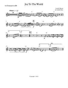 Joy to the World: For wind quintet – parts by Lowell Mason