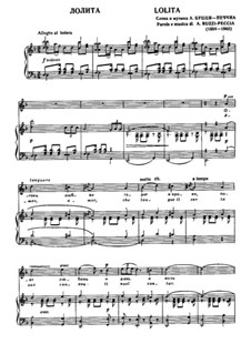Лолита: Для голоса и фортепиано by Arturo Buzzi-Peccia