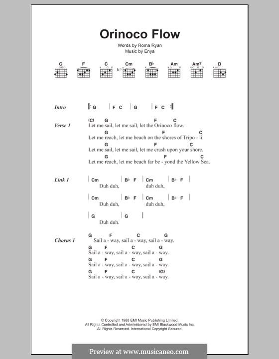 Orinoco Flow: Текст и аккорды by Enya