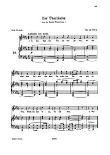 Семь песен, Op.48: No.2 Der Überläufer (The Renegade) by Иоганнес Брамс