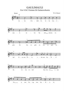 Gaulimauli: A-Dur by Вольфганг Амадей Моцарт