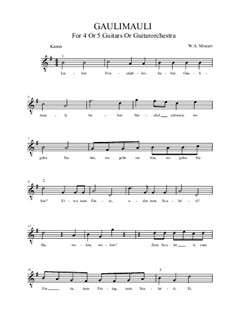 Gaulimauli: G-Dur by Вольфганг Амадей Моцарт