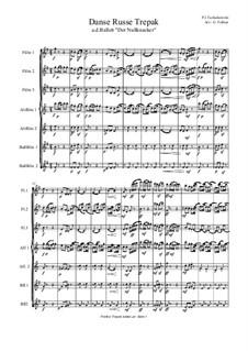 No.4 Русский танец (Трепак): For flute septet by Петр Чайковский